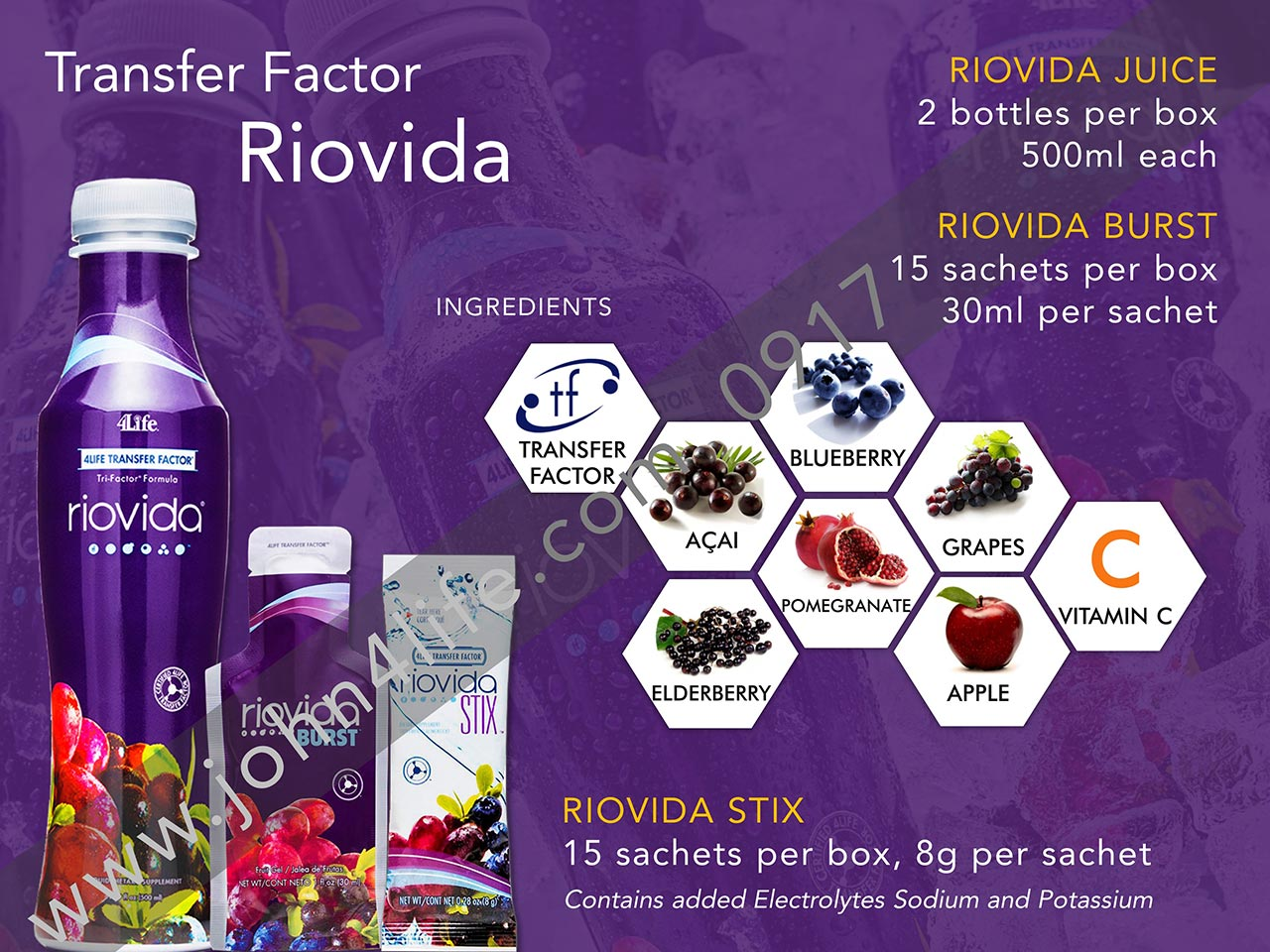riovida juice, burst, stix, acai berry, vitamin c